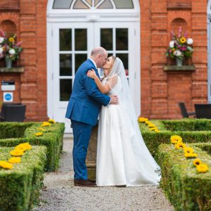 Bride Groom Shepperton Studios Sunflowers