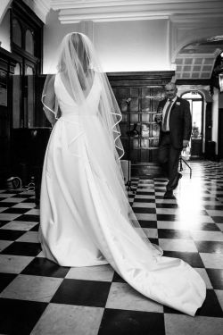 Bridal Gown and Groom Shepperton Studios