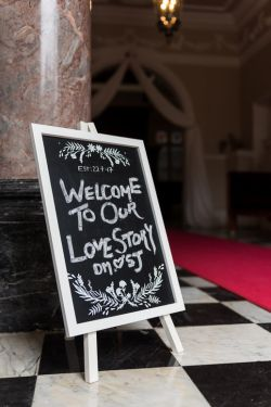 Welcome wedding sign Shepperton Studios