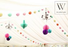 Multi Coloured Marquee decor