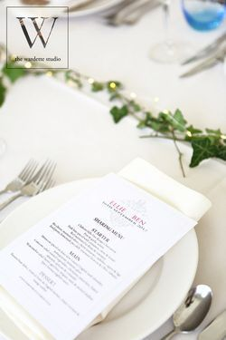 Table setting marquee wedding