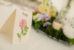 Flower table name cards