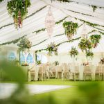 Floral decor wedding marquee