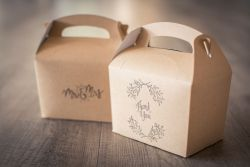Wedding guest hangover kit boxes