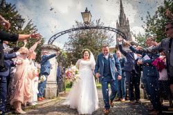 Just married confetti shot Marlow