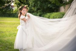 Little Bridesmaid and long veil