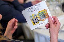 wedding guest favour lottery ticket